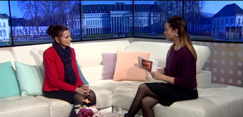 Marion Blettenberg beim Studiotalk TV Mittelrhein